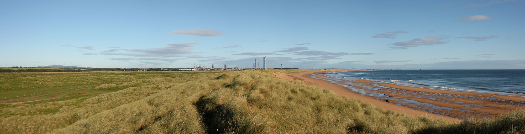 St Fergus Gas Terminal In the distance